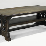 William Price for Rose Valley Community trestle table: $237,500. Image courtesy Rago Arts and Auction Center.