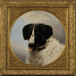 He's a good boy. This 1859 oil-on-canvas artwork titled 'Portrait of a Dog,' after Edwin Henry Landseer, is attributed to Anne Cathrow (British, 1802-1873). Image courtesy of LiveAuctioneers.com Archive and Skinner Inc.