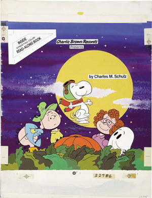 'It's The Great Pumpkin, Charlie Brown' album cover original art by Dick Duerrstein (Charlie Brown Records, 1978). Image courtesy LiveAuctioneers.com Archive and Heritage Auctions.