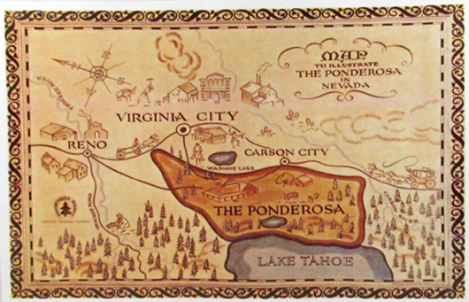 Robert Temple Ayres created the famous Ponderosa map, which opened every 'Bonanza' episode. Image courtesy LiveAuctioneers Archive and Pioneer Auction Gallery.