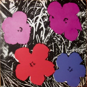 Andy Warhol (American, 1928-1987), Flowers. Image courtesy of Sotheby's.