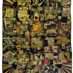 Unusual 19th century American patchwork sampler quilt, with 26 velvet and silk patches. Image courtesy Crescent City Auction Gallery.