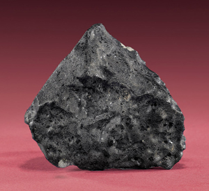 The Tissint Meteorite fell to earth on July 18, 2011 in Morocco. Currently on display in New York City, the extremely rare specimen will be auctioned on May 6, 2012 at the I.M. Chait gallery in Beverly Hills, California. Image courtesy of I.M. Chait.