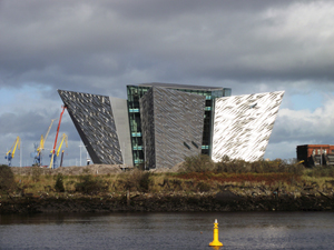 Titanic Belfast building, Queens Island, Belfast, Northern Ireland. Image by Whiteabbey. This file is licensed under the Creative Commons Attribution-Share Alike 3.0 Unported license.