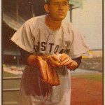 Mel Parnell, shown on a 1953 Bowman baseball card, pitched 10 seasons for the Boston Red Sox. Image courtesy Wikimedia Commons.