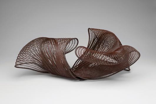 Honda Syoryu, 'Catalpa,' 2011. Madake bamboo, rattan. 28 x 12 x 13.25. TAI Gallery.