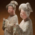 Pair of painted 'Fat Ladies' pottery figures from the Tang Dynasty (617-906 A.D.). Courtesy Courage and Joy.