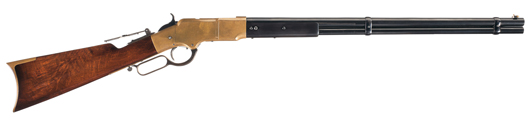 Extraordinarily rare and important, fully documented Briggs Patent Henry Rifle, formerly of the Winchester Museum Collection. Estimate: $180,000-$275,000. Image courtesy Rock Island Auction.