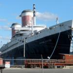 The SS United States docked in Philadelphia. Image courtesy Wikimedia Commons.