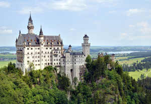 Thirty-nine of the catalogs were found in May 1945 in Neuschwanstein Castle in Germany. Image courtesy Wikimedia Commons.