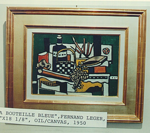 Fernand Leger, 'La Bouteille blue,' 1950, oil on canvas, one of four artworks recovered in Germany. FBI photo.