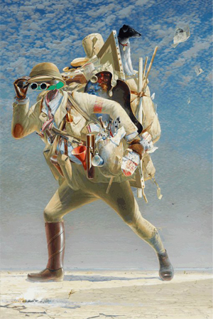 Tim Storrier (Australian), 'The Histrionic Wayfarer (after Bosch), Archibald Prize 2012 winner, image courtesy of Art Gallery of New South Wales.