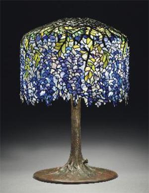 Tiffany Wisteria lamp, estimate: $500,000-700,000, Courtesy Christie's Images Ltd. 2012