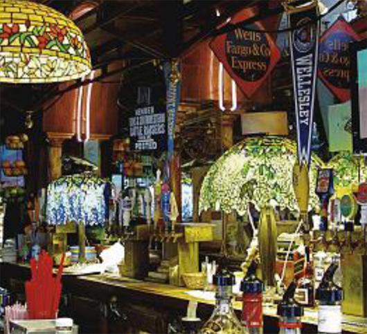 The bar at Eddie Rickenbacker's, Courtesy Christie's Images Ltd. 2012.