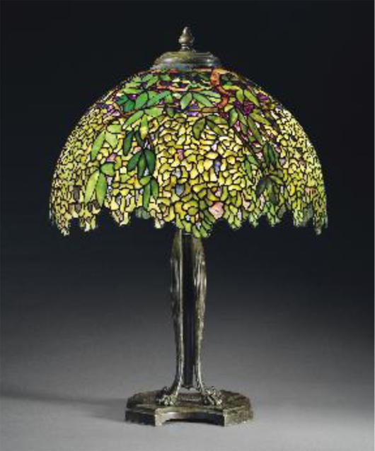 Tiffany Laburnum lamp, estimate: $400,000-600,000, Courtesy Christie's Images Ltd. 2012.
