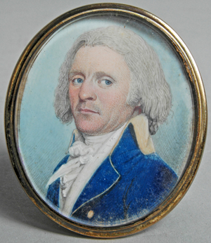 Portrait miniature of James Sever, Portsmouth, N.H., Naval officer. Image courtesy of Mid-Atlantic Auctions.