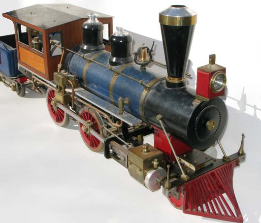 Five-speed 4.75 scale 'Waushakum' steam locomotive. Image courtesy of Mid-Atlantic Auctions.