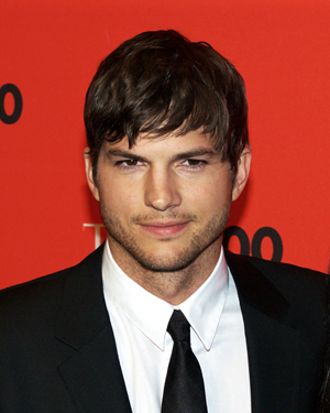 Ashton Kutcher at the Time 100 Gala in 2010, licensed under the Creative Commons Attribution 2.0 Generic license.