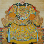 Photograph of The Imperial Portrait of a Chinese emperor called 'Jiaqing.' Photo by Highshines.