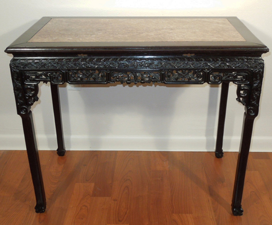 Antique Chinese rosewood table. Image courtesy Manatee Galleries Inc. - Upcoming Auctions Archives - Page 267 Of 399 - Live Auctioneers