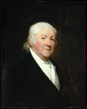 A portrait of Paul Revere by Gilbert Stuart. It was painted in 1813, when Revere was about 78 years old. Image courtesy Wikimedia Commons.