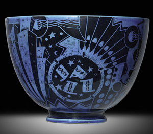 The original Jazz Bowls are 11 1/2 inches by 16 inches. Image courtesy Rago Arts and Auction Center.