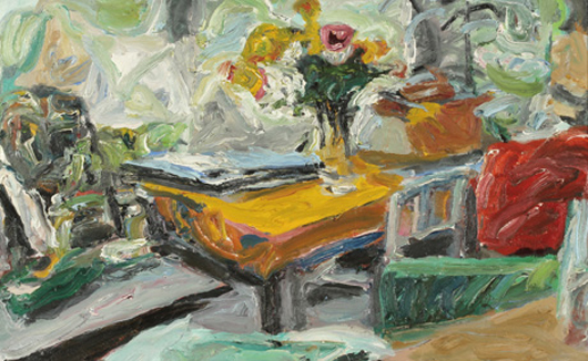 'Blumen am Fenster,' 1984, by Stuttgart painter Alfred Wais (1905-1988) is featured in the next Kastern art auction. Photo courtesy Kastern Kunstauktionen.