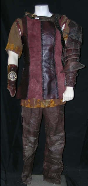Camelot, King Arthur (Jamie Campbell) hero costume. Premiere Props image.