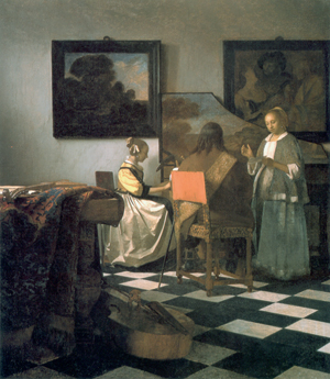 One of the paintings stolen from the Boston museum in 1990 was Johannes Vermeer's 'The Concert,' circa 1664. Image courtesy Wikimedia Commons.