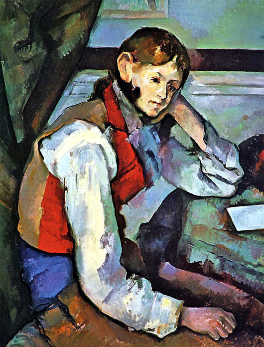 Paul Cezanne (French, 1839-1906), The Boy in the Red Vest, E.G. Buhrle Collection, Zurich.