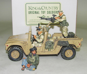 King & Country Afghanistan Humvee with captive SF03, 5-piece set with box, est. $150-$200. OTSA image.