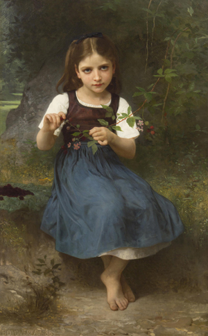William Adolphe Bouguereau, 'LeGouter,' sold for $688,000. Image courtesy Leslie Hindman Auctioneers.
