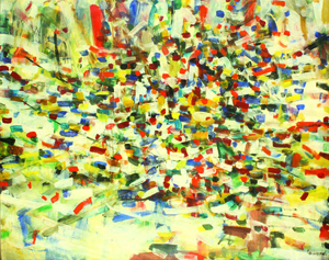 Topping the fine art category will be this important abstract work by Italian artist Parmeggiani Tencredi (1927-1964). 'Untitled,' circa 1958, comes to the sale with an estimate of $80,000 to $120,000. Image courtesy Clars Auction Gallery.