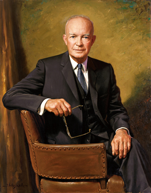 Official White House portrait of Dwight D. Eisenhower, 34th president of the United States. Image courtesy Wikimedia Commons.