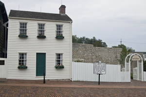 The Mark Twain boyhood home has been preserved in Hannibal, Mo., a stone's throw from the Mississippi River. Image by Andrew Balet. This file is licensed under the Creative Commons Attribution-Share Alike 3.0 Unported license.