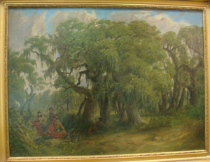 Seth Eastman (American, 1808-1875) oil on canvas 'Seminole Peace Party,' circa 1840, 35 1/2 x 25 1/2 inches. Estimate: $450,000-$650,000. Image courtesy Phoebus Auction Gallery.