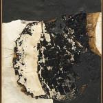Alberto Burri, 'Plastica', plastica, combustione su telaio di alluminio, 100x86,3 cm, eseguito nel 1962, stima: €800.000-1.200.000. Courtesy Christie's Images Ltd.