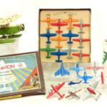 Selection of airplanes from the GR Webster collection. Stephenson's Auctioneers image.