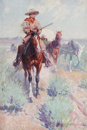 William Herbert 'Buck' Dunton (American 1878-1936), 'The Trail Boss (Settlers & Seeds, Civilization's Forerunner).' Estimate: $200,000-$300,000. Image courtesy Michaan's Auctions.