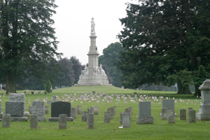 The Soldiers National Monument at the center of Gettysburg National Cemetery. Image courtesy Wikimedia Commons.