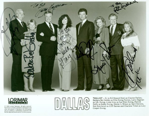 Ken Kercheval (second from right) with the original cast of 'Dallas.' Image courtesy LiveAuctioneers.com Archive and Signature House.