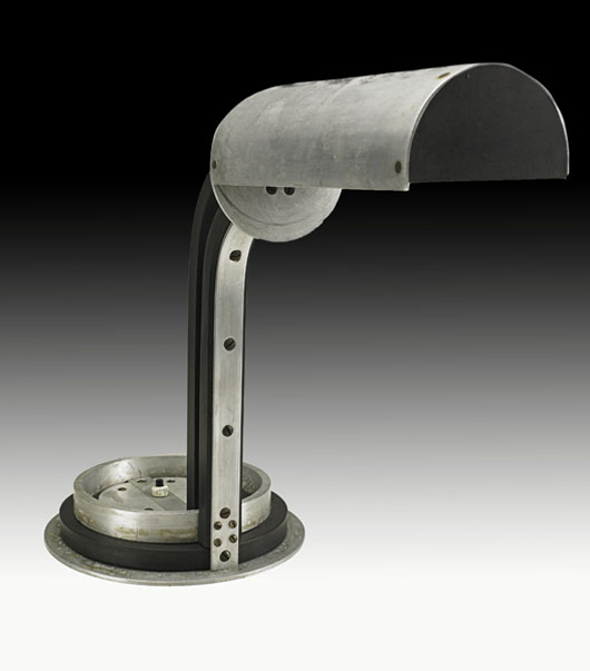 Rare Jacques le Chevallier and Rene Koechlin desk lamp, circa 1928.  Estimate: $18,000