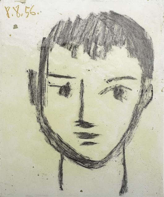 Pablo Picasso hand-painted and glazed tile, 'Tête de Garçon.' Estimate: $30,000-$40,000. Image courtesy Rago Arts and Auction Center.