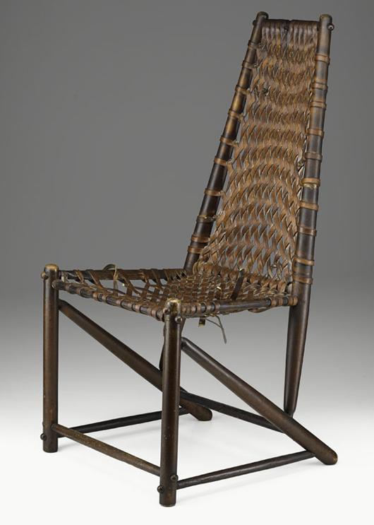 Early Wharton Esherick side chair, 1932. Estimate: $15,000-$20,000. Image courtesy Rago Arts and Auction Center.