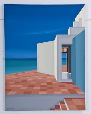 Humberto Calzada, 'War of Solitude,' circa 1987, acrylic on canvas. Image courtesy Abell Auction Co.