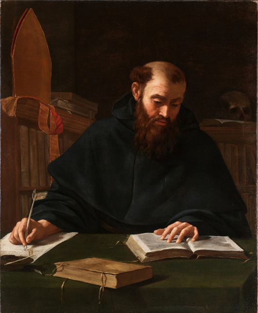 Internationally renowned Caravaggio connoisseur Clovis Whitfield of Whitfield Fine Art will be offering this newly discovered Caravaggio of 'Saint Augustine' at the forthcoming Masterpiece fair in Chelsea. Image courtesy Whitfield Fine Art and Masterpiece.