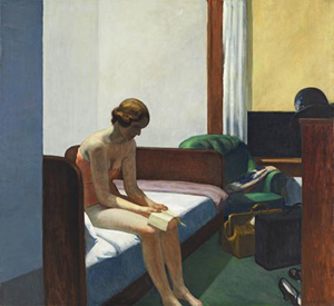 Edward Hopper (American, 1882-1967), 'Hotel Room,' 1931, oil on canvas. Image courtesy Thyssen-Bornemisza Museum, Madrid.