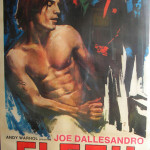 Movie poster, 'Flesh' by Andy Warhol. Outer Cape Auctions image.