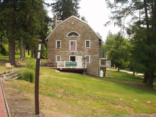 A 200-year-old stone gristmill is home to the Appalachian Trail Museum. Image courtesy of the Appalachian Trail Museum.