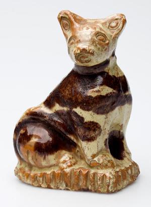 Outstanding Bell family, Strasburg, VA earthenware cat figure